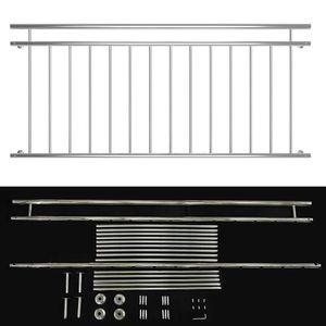 90x184CM Geländer für französischen Balkon aus Edelstahl Fenster Gitter Schutz