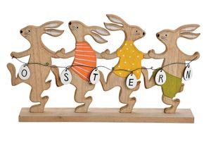 Schriftzug Osterhasen 40 cm Hasengruppe Hase Holz Aufsteller Ostern Osterdeko
