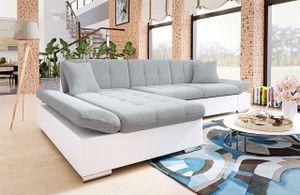 Mirjan24 Ecksofa Malwi Eckcouch mit Schlaffunktion und Bettkasten, L-Form Sofa vom Hersteller (Soft 017 + Bristol 2460, Ecksofa: Links)