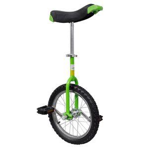 vidaXL Einstellbares Einrad 40,7 cm grün