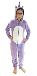 Mädchen Jumpsuit Overall Onesie Schlafanzug in niedlichen Tier Motiven - 291 467 97 606, Farbe:Einhorn, Größe:152