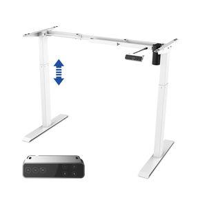 SANODESK EZ1- elektrisch stufenlos höhenverstellbarer Schreibtisch mit Kollisionschutz, Memory-Steuerung und Softstart/Stop Funktion