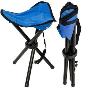 Camping Hocker Klapphocker Angelhocker Falthocker Campinghocker Dreibein Stuhl Blau