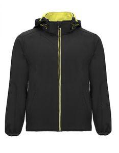 Herren Siberia Softshell Jacket, Wasser- und Windabweisend - Farbe: Black 02/Lime Punch 235 - Größe: XL