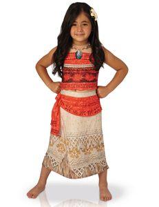 Vaiana Kostüm für Kinder deluxe Disney Südsee Prinzessin, Größe:L (7-9 Jahre)