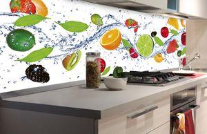Küchenrückwand Folie selbstklebend OBST 180 x 60 cm   Klebefolie - Dekofolie - Spritzschutz für Küche  