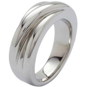 Fossil Damen Edelstahl Ring JF86538, Ringgröße:53 (16.8 mm Ø)