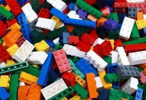 200 bunt gemischte Lego© - Steine, Platten und Elemente