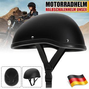 Motorradhelm Halbschalenhelm Rollerhelm Motorrad Chopper Matte Schwarz Größe: M