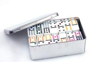 Domino Doppel12, Double  12 - Domino in Blechdose