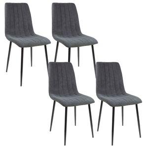 Albatros Esszimmerstühle GARDA Stoff, Stückzahl:4-er SET, Farbe:Anthrazit