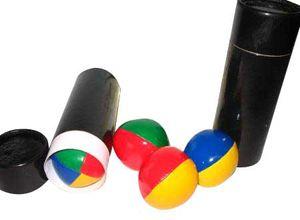 Jonglierbälle - Set 6,3 cm - 3er Jonglierball Set in schwarzer Dose