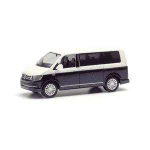 Herpa 038730-002 VW T6 Multivan Bicolor weiss/dunkelblau Maßstab 1:87