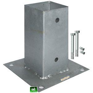 Aufschraubhülsen 7x7 cm 5-er Set mit 10 Schrauben 10x90 mm