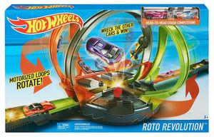 Hot Wheels Mega-Looping Crashbahn Trackset