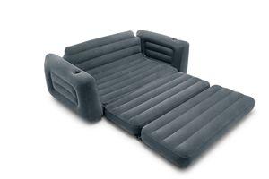 Intex 66552 Aufblasbare 2-Sitzer Schlafcouch Kingsize 203x224x66 cmFärbung: Anthrazit, Breite (cm): 203, Anzahl Plätze: 2, EAN: 6941057417431