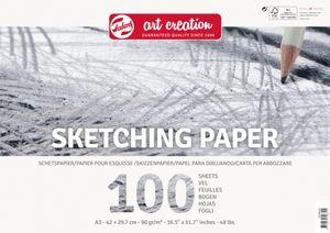 """Talens Art Creation """"Skizzenpapier"""", 100 Blatt, 90g/qm DIN A3"""