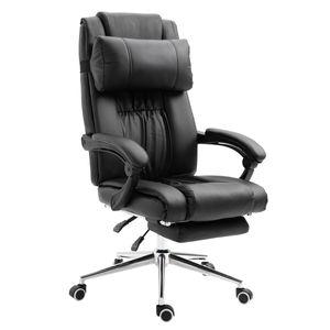 SVITA Bürostuhl Fußstütze Schreibtischstuhl höhenverstellbar Drehstuhl schwarz