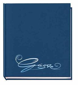 Gästebuch d-blau 205x240 m. Farbpräg.