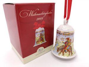 Porzellanglocke Weihnachtsglocke 2009 - Hutschenreuther - in