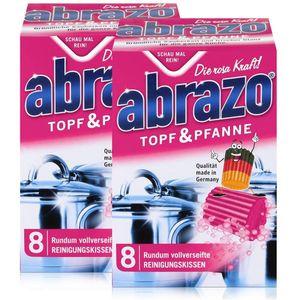 abrazo Topf & Pfanne Reinigungskissen - Die rosa Kraft (2er Pack)