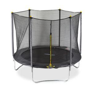 relaxdays 2 tlg. Trampolin Set, Trampolin Outdoor 305 cm + Sicherheitsnetz Fangnetz Garten