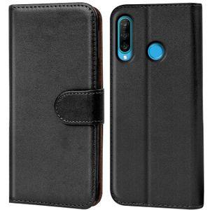 Book Case für Huawei P30 Lite Hülle Flip Cover Handy Tasche Schutz Hülle Schale