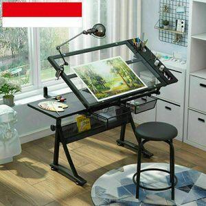 360Home Glas Schreibtischhöhenverstellbar neigbar Computertisch Zeichentisch