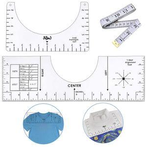 2er Pack T-Shirt Ausrichtungswerkzeug-T-Shirt Lineal Führungswerkzeug Acryl, Sublimation Designs auf T-Shirt-Zentrierwerkzeug