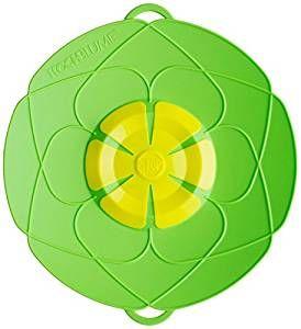Kochblume das Original - der Überkoch-Schutzdeckel mittel 29 cm Farbe grün