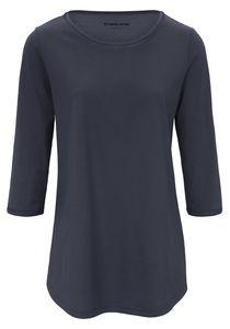 Green Baumwolle Damen Shirt Longshirt mit 3/4-Arm