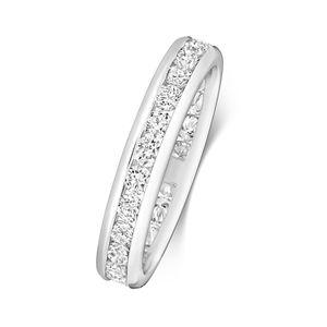 Platin 950 1mm Damen - Diamant Trauring/Ehering/Hochzeitsring Brillant-Schliff 1.30 Karat G - SI VS, 54 (17.2); WJS2099PT950