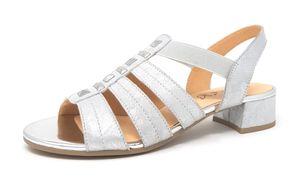 Caprice Damen Sandale in Silber, Größe 6.5