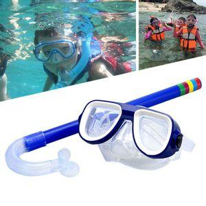 2er/set Kinder Schnorchelset Taucherbrille Tauchmaske  Schwimmbrillen Blau Schnorchel Set