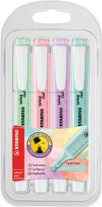 STABILO Textmarker swing cool Pastel Edition 4er PET-Etui
