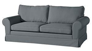 Max Winzer Hillary Sofa 3-Sitzer (2-geteilt) inkl. Zierkissen - Farbe: anthrazit - Maße: 202 cm x 89 cm x 85 cm; 2890-3880-1645214-KUN