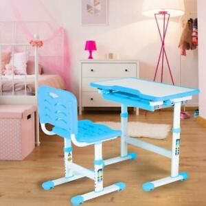 Kinderschreibtisch mit Stuhl Schülerschreibtisch Jugendschreibtisch Schreibtisch Höhenverstellbar