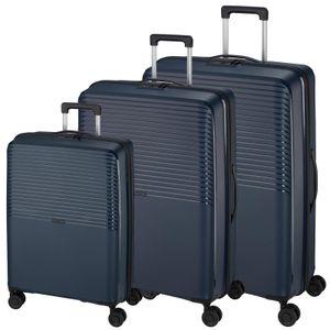 d&n Travel Line 4000 Trolley-Set 3-teilig   4 Rollen - Blau