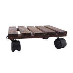 Platz Pflanzer Trolley Stand mit Abschließbar Rollen Outdoor Indoor Garten Blumentopf Mover 25x25cm