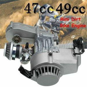 49cc Mini Motor Pull Start mit Getrieb Vergaser Für Pocket Dirt Quad Bike ATV