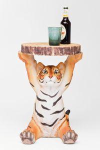 Kare Beistelltisch Tiger Ø35cm ; Maße (HxBxT): 53 cm x 37 cm x 35 cm, 78892