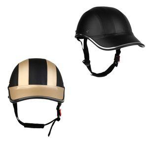 Baseballmütze Stil Motorrad Fahrradhelm Anti-UV Schutz Hut Schwarz Gold
