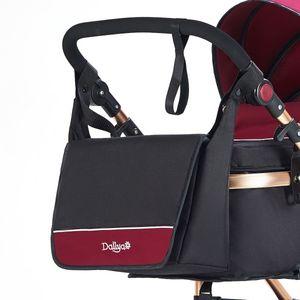 Daliya Wickeltasche / Mamabag / Babytasche / Kliniktasche / Tasche original für Bambimo Kinderwagen / Buggy oder Universal (Bordeaux-Rot)…