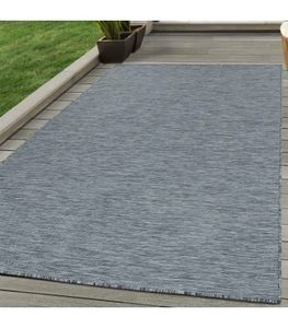 Sisal Optik Outdoor-Teppich Flachgewebe Teppich Indoor Küche Terrasse Anthrazit, Grösse:160x230 cm