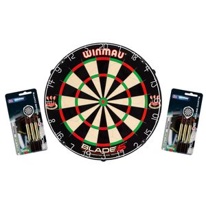 Winmau Blade 5 Profi Dartboard Dartscheibe Set Dart Board Steeldart + 6 Dartpfeile