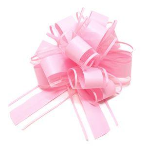 Oblique Unique Geschenkschleife Deko Schleife für Geschenke Tüten Zuckertüte Weihnachten Geschenkdeko - light rosa