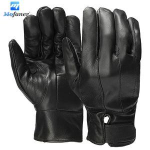 Winter Leder warme Handschuhe winddicht wasserdicht Full Palm Touchscreen Handschuhe Radfahren Wandern Driving Handschuhe