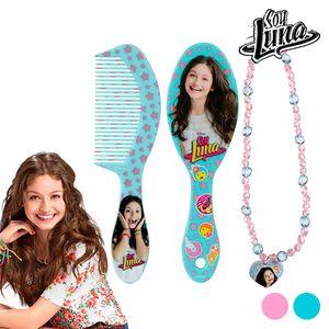 Soy Luna Beauty Set für Mädchen Bürste+Türkise Kette