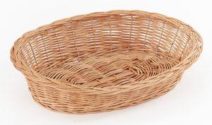 Weidenkorb mit Zopfrand Hundekorb aus Vollweide in Natur 70 cm, Größe:ohne Kissen