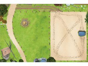 Hochwertige Pferdekoppel / Reiterhof Spielmatte mit 3D-Effekt # Der perfekte Spielteppich für Ihr Kinderzimmer!